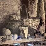 Illya Terekhov. Still life. Black ink. 2013