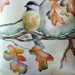 Alisa Rosan. 14 year old. Bird. Watercolours painting. 2008