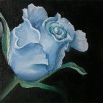 Alisa Rosan. 14 years old. Blue Rose. Oil Painting. 2008