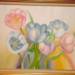 Alisa Rosan. 11 years old. Tulips. Oil Painting. 2005