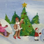 Anastassia Martunova. 10 years old. Winter time. Gouache. 2003