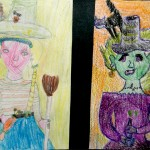 Anastassia Martunova. 8 years old. Good and Bad Witch. Pencils. 2001