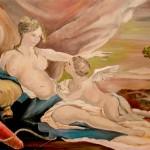 Anastassia Martunova. 14 years old. Afrodita. Oil painting. 2007
