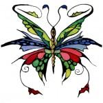 Anastassia Martunova. 13 years old. Fairy butterfly. Gouache. 2006