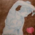 Anastassia Martunova. 15 years old. Still life. Shadding. 2008
