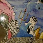 Anastassia Martunova. 12 years old. Underwater kingdom.  Watercolor painting & ink. 2005