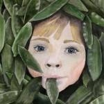Anastassia Martunova. 15 years old. Pease please. Watercolor painting.  2008