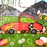 Arina Gerasimova. 10 year old. Car. Watercolour painting. 2011