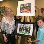 Derick Zvolinsky at the Children's Art Show. 2008