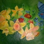 Emily Rassin. 12 years old. Flowers. Oil Painting. 2010