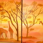 Emily Rassin. 12 year old. Giraffes_Oil painting. 2011