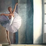 Emily Rassin. 13 years old.  Ballerina. Oil Painting. 2011