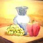 Ilya Teerhov. 11 years old. Still Life. Watercolour painting. 2011