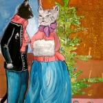 Janya Yakunina. 11 years old. Cats Christmas. Gouache. 2012