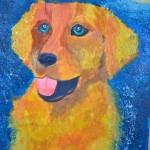 Jenya Yakunina.  Dog. Gouache. 2012