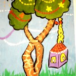 Lera Kucherenko. 6 years old. Magic Tree. Gouache2011