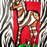 Lera Kucherenko. 6 years old. Zebra. Gouache. 2011