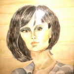 Madina Shaihutsinova. Portret. 11 years old.  Watercolour painting. 2011