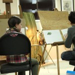 Madina Shaihutsinova at the art class. 2012
