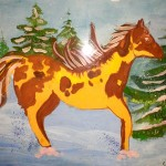 Sergey Khlunovsky. 8 years old. Horse. Gouache. 2011