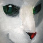 Sergey Khlunovsky. 8 years old.  Snow Cat. Oil painting. 2011