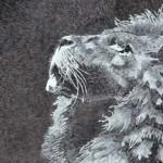 Jenya Yakunina. Lion. Pastel. 2013
