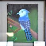Masha Yarantseva.  Bluebird. Oil painting. 2012