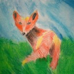 Painting a Fox on the Art Class. 2011