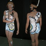 Body Painting in Calgary. Fringe Festival. Painted by Kateryna  and Iryna Magas. 2007