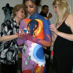 Canadian Body Painting Championship.  Painters - Kateryna and Iryna Magas.  Model - Khrystal Street. 2008