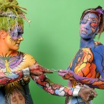 Canadian Body Painting Championship.  First and Second Places. 2008