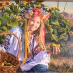 Girl with pears.  Portrait of Maria Yarantceva. 2013