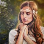Kateryna Magas. Portrait of Iryna Ugryn. Oil painting. Calgary. 2012. Faby Martin Photography. www.fabymartin.com