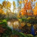 Kateryna Magas. Forest Lake. Oil Painting. 2011.  LANDSCAPES ART COMPETITION. SPECIAL MERIT CERTIFICATE