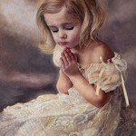 Kateryna Magas. Blessing Girl. Oil Painting. 2011