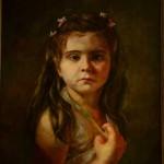 Kateryna Magas. My niece portrait. Milanka. Oil painting. 2011