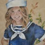 Kateryna Magas. Portrait of Iryna Pavlova. Pastel. 2012