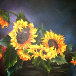 Kateryna Magas. Sunflowers. Oil Painting. 2011