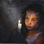 Kateryna Magas. Oil painting. Night Walk. Lera Kucherenko.2013.