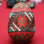 Kateryna Magas. Beaded Ukrainian Easter egg. 1998