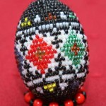 Kateryna Magas. Beaded  egg. 1998