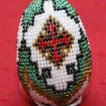 Iryna Magas. Beaded Easter egg. 1997