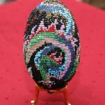 Kateryna Magas. Beaded Chinese egg. 2003