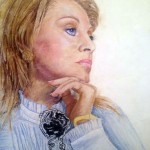 Anastasia Lazarenko. Mother's Portrait. 2012. Pastel
