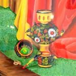 Art Show.  Anastasyia Lazarenko. Khokhloma painting. 2013