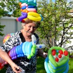 Art Star Creations. Balloon twisting for 84 Nina's Birthday Party.