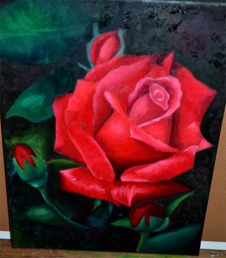 How To Paint Roses In Oil Step By Step