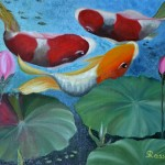 Gitana Rassin. Oil Painting. Fish