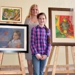 Vita Vysochina at the Fifth children's Art Exhibition. 2.03.2013