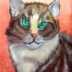 Vita Vysochina. Gouache. The Cat. 2013